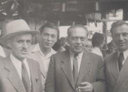 Rideg Sándor, Somlyó György, Zelk Zoltán és Devecseri Gábor a 40-es évek végén