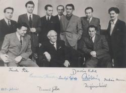 Nyikolaj Tyihonov költő körül: Aczél Tamás, Benjámin László, Darázs Endre, Devecseri Gábor, Juhász Ferenc, Kuczka Péter, Somlyó György (1950 február)