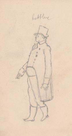 Rajz fiatalkori vázlatfüzetéből