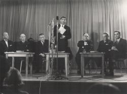 Nemzetközi Költőtalálkozó Balatonfüreden, 1966. októberében (többek között Somlyó, Eugène Guillevic, Csoóri Sándor)