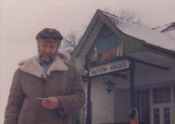 A nagycenki vasútállomáson, 1985-ben