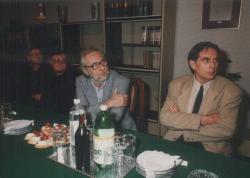 Görgey Gáborral, Gion Nándorral és Fábián Zoltánnal egy értekezleten