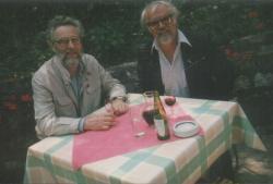Kannás Alajos, Los Angeles-ben élő költővel a Malom presszó teraszán
