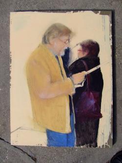 Szajkó István: Tolnai Ottó és felesége (festmény)