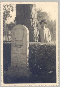 Jákely Zoltán John Keats sírjánál, Rómában (1940)