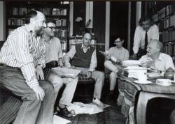 A Holmi szerkesztői 1994 szeptemberében (fotó: Szilágyi Lenke)