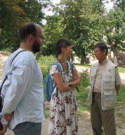 G. István Lászlóval és Mesterházi Mónikával (Bajót, 2005)