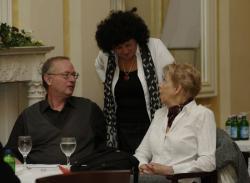 Spiró György, Csorba Csilla (a PIM főigazgatója) és Takács Zsuzsa
