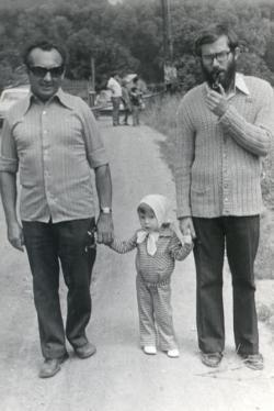 Édesapjával és lányával, Ágival (1975)