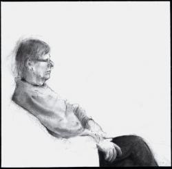Egyed László: Várady Szabolcs (2015, ceruza, papír, 25 x 25 cm)