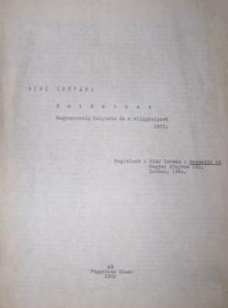 Emlékirat Magyarország helyzete és a világhelyzet (1960)