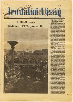 Irodalmi Újság. Bp-i kiadás, 1989.