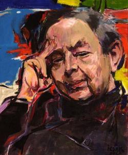 Izsák József: Fejes Endre (olaj, vászon, 48 x 40 cm)