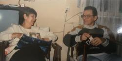 Feleségével, 1997  karácsonyán