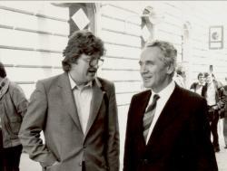Hubay Miklóssal - háttérben Lezsák Sándor (1984)