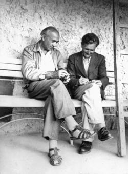 Illyés Gyula és Németh László az 1960-as évek elején