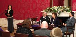 Rakovszky Zsuzsa a Babits Mihály Alkotói Díj átvételén (2015, PIM)