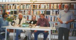 Író-olvasó találkozó: Léka Géza, Szöllősi Zoltán, Szikra János, Kiss Benedek és Utassy József (2000)