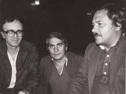 Ivan Canev bolgár költővel és Rózsa Endrével (Szófia, 1985 körül)
