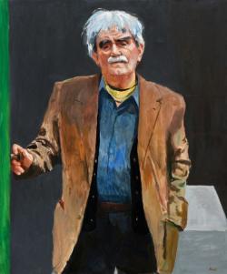 Konok Tamás: Juhász Ferenc (2009, olaj, vászon, 120 x 100 cm)