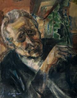 Balázs Imre: Kányádi Sándor (pasztel, papír, 58 x 70 cm)