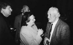 Kányádi Sándor társaságában a Bethlen-díj átadó ünnepségén (2002)