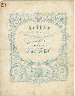 Az Erkel Ferenc által megzenésített Szózat kottája 1843-ból.