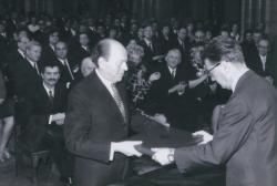 Kossuth-díj (Fotó: Szebellédy Géza, 1973)