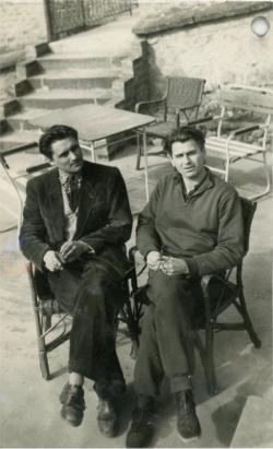 Mészöly Miklóssal (Visegrád - Magyar Írók Alapjának alkotóháza, 1956)