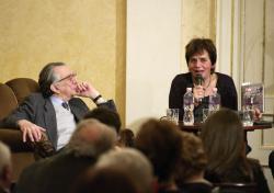 Lator László 85. születésnapjának köszöntésén Kelevéz Ágnessel (2012)