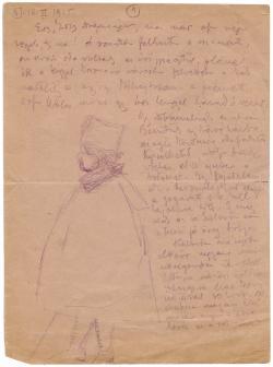 Móricz Zsigmond (1879–1942) feleségének, Holics Jankának (1883–1925) szóló autográf levelének első oldala