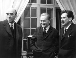 Major Tamás, Németh László és Aczél György (Kossuth Klub, 1966. február 23.)