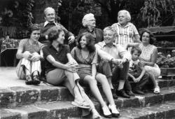 Németh László, Némethy Béláné, Németh Lászlóné, Dörnyei László, Németh Ágnes, Némethy Nóra, Némethy László, Lakatos Istvánka és Németh Magda (1974. július 14.)