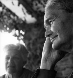 Németh László író és felesége (Sajkod, 1969 nyara)