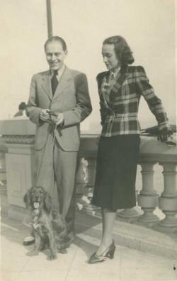 Örkény első feleségével, Gönczi Flórával