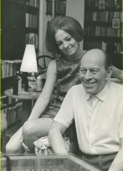Örkény István Radnóti Zsuzsával a 60-as években