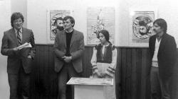 Orosz István kiállításának megnyitóján Lakiteleken (1985)
