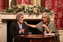 Pályi Andrással az ünnepségen Radics Viktória beszélget (2017)