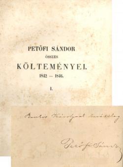 Petőfi Sándor összes költeményei 1842-1846. 1-2. kötet. Pest, Emich Gusztáv, 1848.