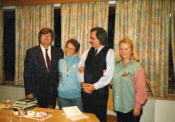 Radics Évával és az Ablonczy házaspárral Annabergben (1996)