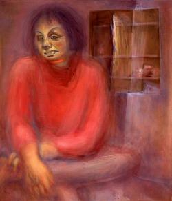 Tamás Noémi: Rakovszky Zsuzsa (olaj, vászon, 70 x 60 cm)