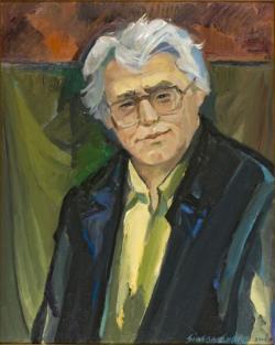 Simon Endre: Sütő András (olaj, vászon, 70 x 84 cm)