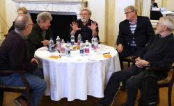 Spiró György, Kántor Péter, Parti Nagy Lajos, Závada Pál és Bodor Ádám