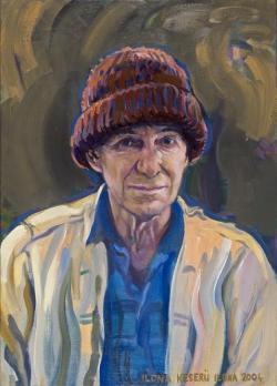 Keserü Ilona: Tandori Dezső (olaj, vászon, 68 x 49 cm)