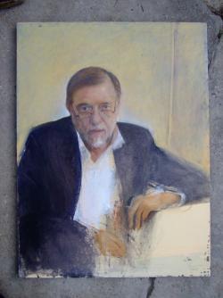 Szajkó István: Tolnai Ottó (2009, olaj, vászon, 80 x 60 cm)