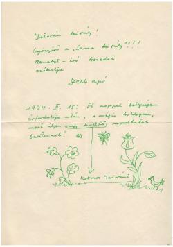Zelk Zoltán (1906–1981) autográf levele Kormos Istvánnak (1923–1977)