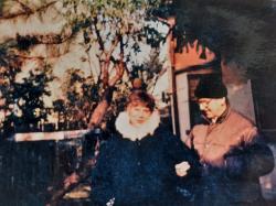Vasadi Péter feleségével 1997 decemberében
