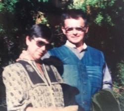 Vasadi Péter feleségével, Edittel