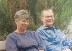 Vasadi Péter feleségével