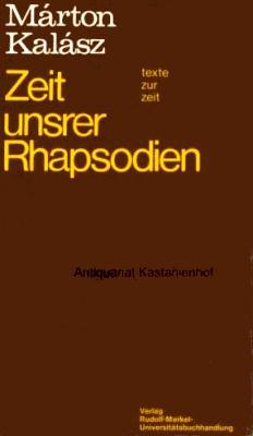 Zeit unsrer Rhapsodien (1983)